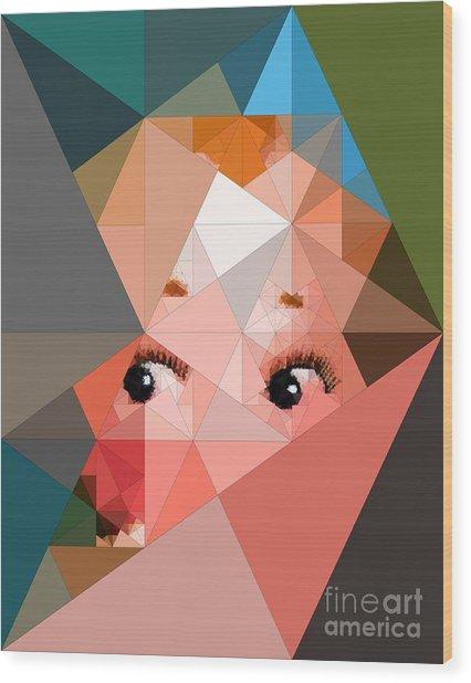 Here's Lookin At You Wood Print by Deborah Selib-Haig DMacq