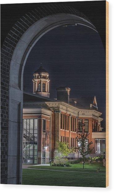 Heritage Hall - Western Michigan University Wood Print