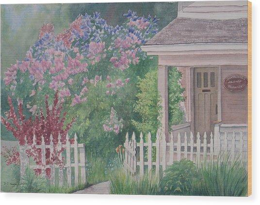 Heritage House Wood Print by Debbie Homewood