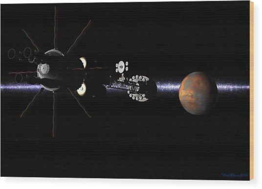 Hermes1 In Sight Of Mars Wood Print