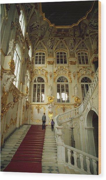 Hermitage Staircase Wood Print