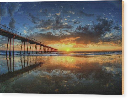 Hermosa Beach Wood Print