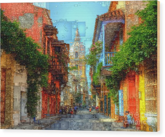 Heroic City, Cartagena De Indias Colombia Wood Print
