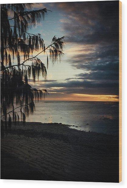 Heron Island Sunset  Wood Print