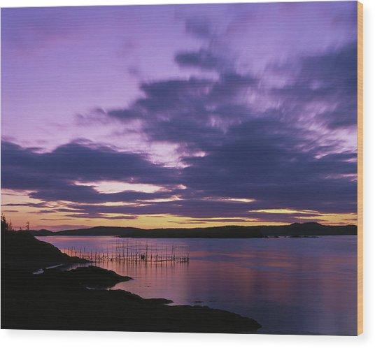 Herring Weir, Sunset Wood Print