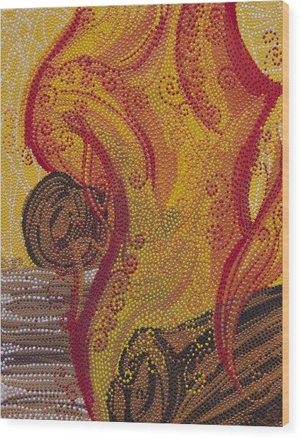 Hestia Wood Print by Cassinda Downey