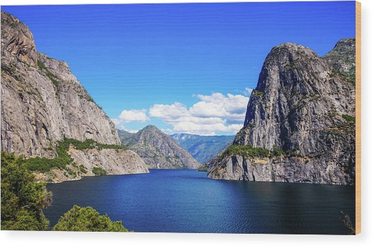 Hetch Hetchy Reservoir Yosemite Wood Print