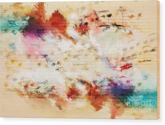 Heterophony And Inverted Harmony Wood Print