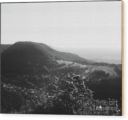 Heubach View Towards Scheuelberg Wood Print