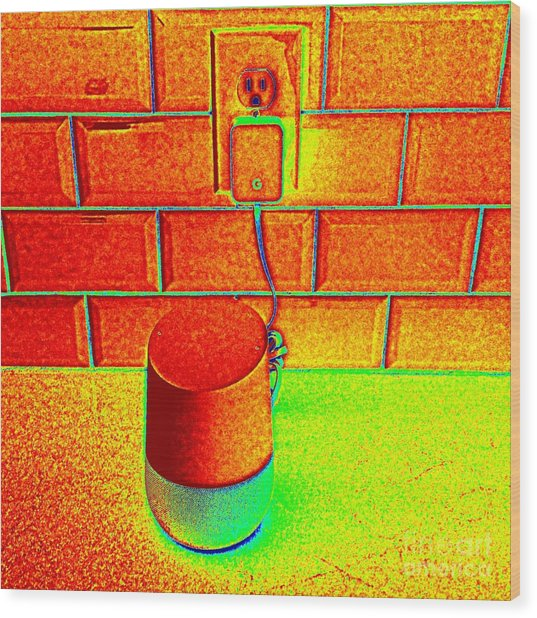 Heat Map Hey Google How Can You Help Me Wood Print by Richard W Linford