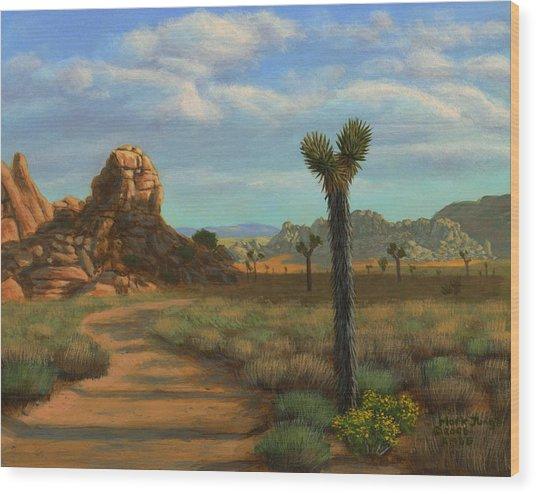 Hi Desert Road Wood Print