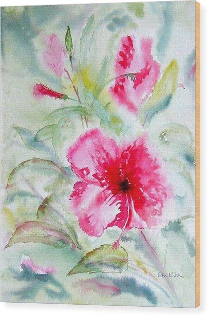 Hibiscus Fantasy Wood Print