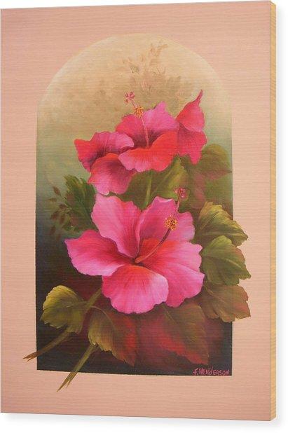 Hibiscus Garden Wood Print