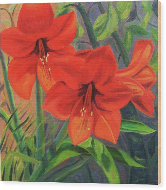 Hibiscus Wood Print by Jane  Simonson