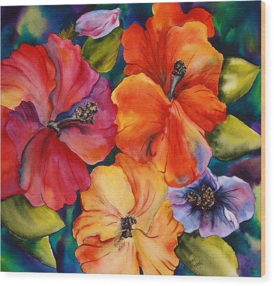 Hibiscus Mini Wood Print