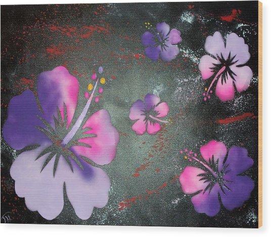 Hibiscus Wood Print by Trenton Heckman