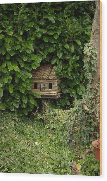 Hidden Birdhouse Wood Print