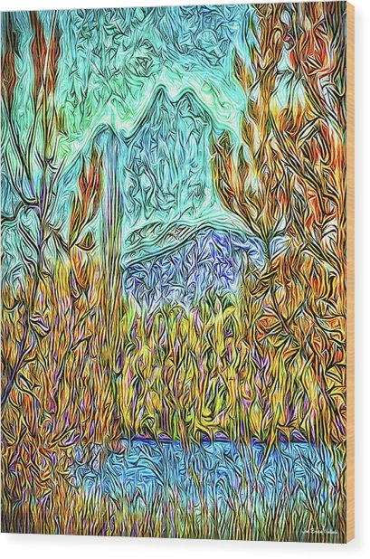 Hidden Lake Wood Print