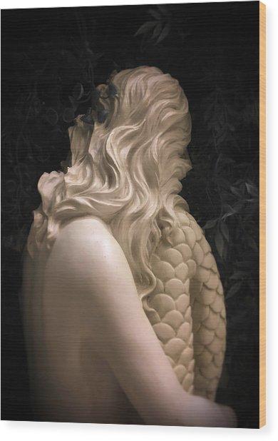 Hidden Mermaid Wood Print