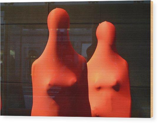 Hidden Nipples Wood Print by Jez C Self