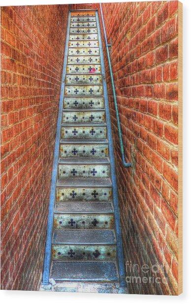 Hidden Stairway In Old Bisbee Arizona Wood Print