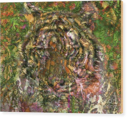 Hidden Tiger Wood Print by Chuck Brittenham