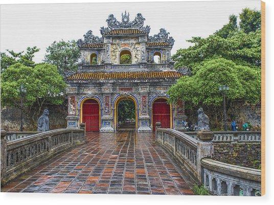 Hien Nhon Gate, Citadel, Hue,vietnam Wood Print