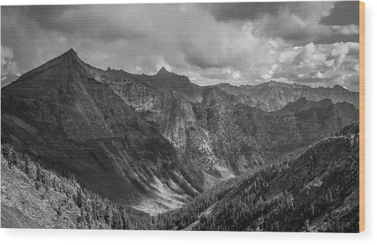 High Country Valley Wood Print