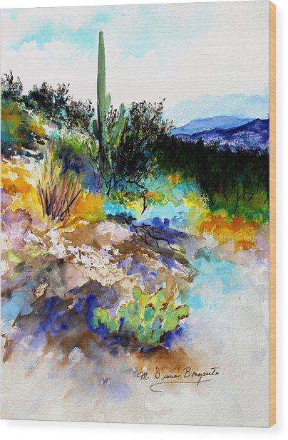 High Desert Scene Wood Print