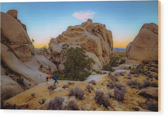 High Desert Pose Wood Print