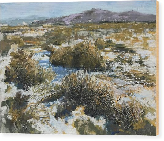High Desert Winter Wood Print