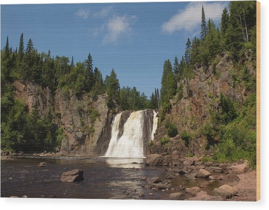 High Falls At Tettegouche State Park Wood Print