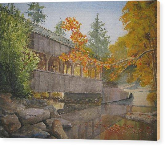 High Falls Bridge Wood Print by Shirley Braithwaite Hunt