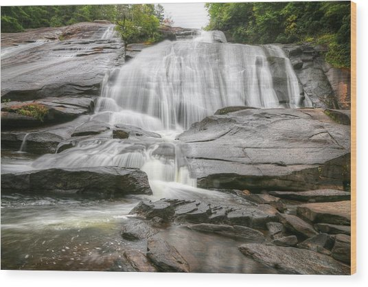 High Falls Of Dupont State Forest Wood Print