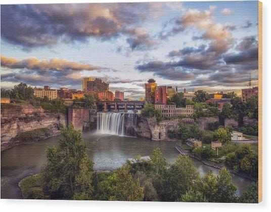 High Falls Rochester Wood Print