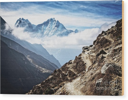 High In The Himalayas Wood Print