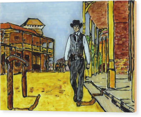 High Noon Wood Print