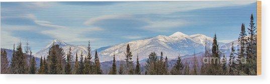 High Peaks Wood Print