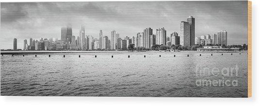 High Resolution Chicago Skyline Panorama Photo Wood Print