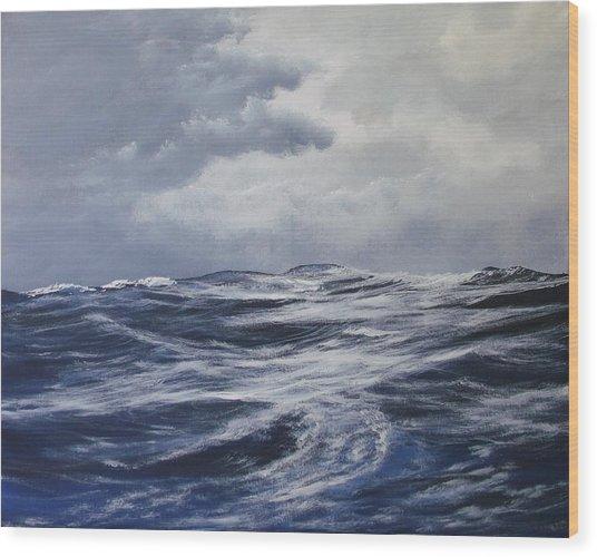 High Seas  Wood Print by Dj Khamis