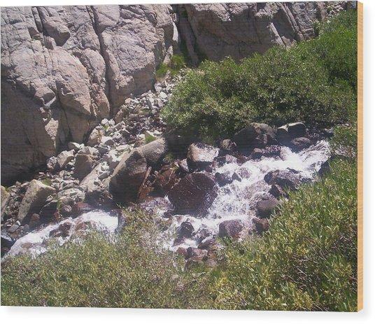 High Sierras Treasure Lakes Iv Wood Print by Sarah Stiles