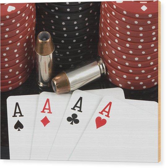 High Stakes Poker Wood Print