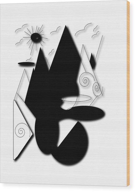 High Standard Wood Print by Karen Diggs