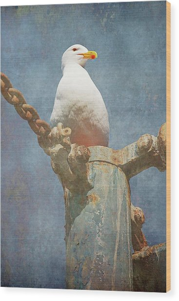 High-up On The Watchtower , Seagull Wood Print