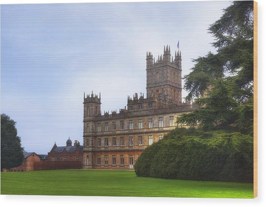 Highclere Castle Wood Print