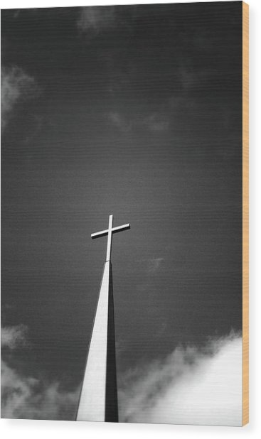 Higher To Heaven - Black And White Photography By Linda Woods Wood Print