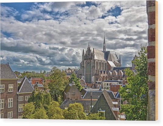 Highland Church Seen From Leiden Castle Wood Print
