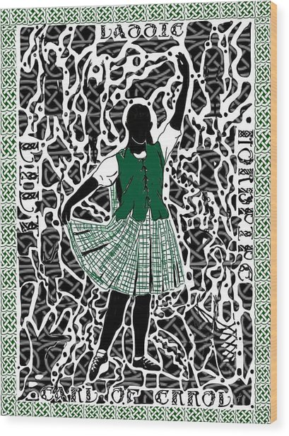 Wood Print featuring the digital art Highland Dancing by Darren Cannell