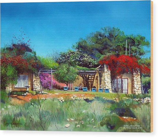 Highveld House Wood Print