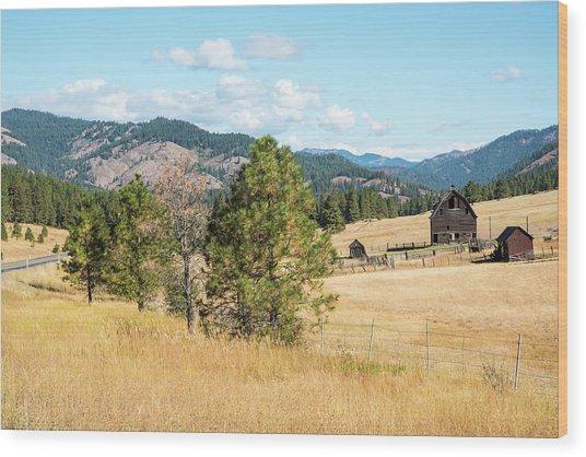 Highway 97 Ranch Memories Wood Print